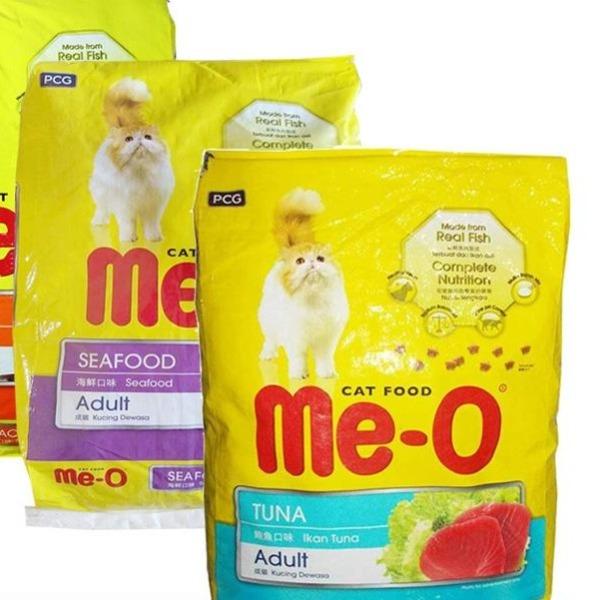 HPKM- Thức ăn cho mèo lớn đã trưởng thành trên 1 tuổi Me-O Adult 7kg (20 gói 350gr) vị cá ngừ, cá thu, hải sản
