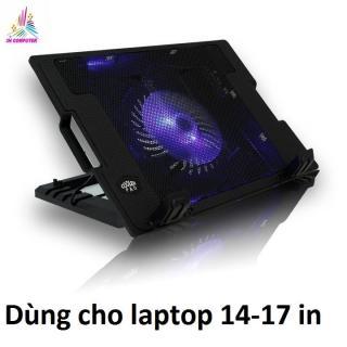 Quạt tản nhiệt Laptop đế tản nhiệt kèm quạt làm mát laptop có đèn N88 thumbnail