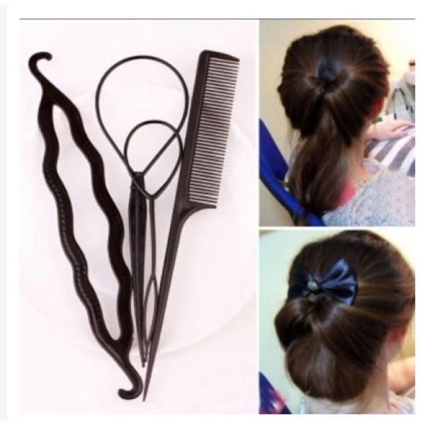 Combo 4 dụng cụ làm tóc đa năng cho bé giá rẻ