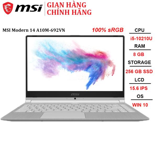 Bảng giá Laptop MSI Modern 14 A10M-692VN i5-10210U | 8GB | 256GB | 14 FHD | Win 10 Phong Vũ