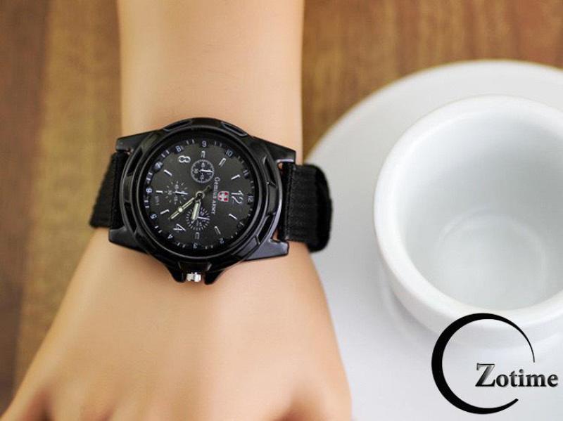 Nơi bán Đồng hồ nam nữ Army mặt tròn dây dù trẻ trung cực đẹp ZO72