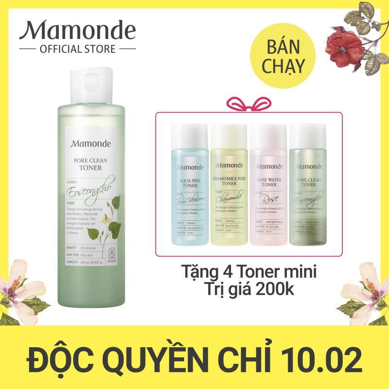 Nước cân bằng làm sạch dầu nhờn và ngăn ngừa mụn Mamonde Pore Clean Toner 250ml cao cấp