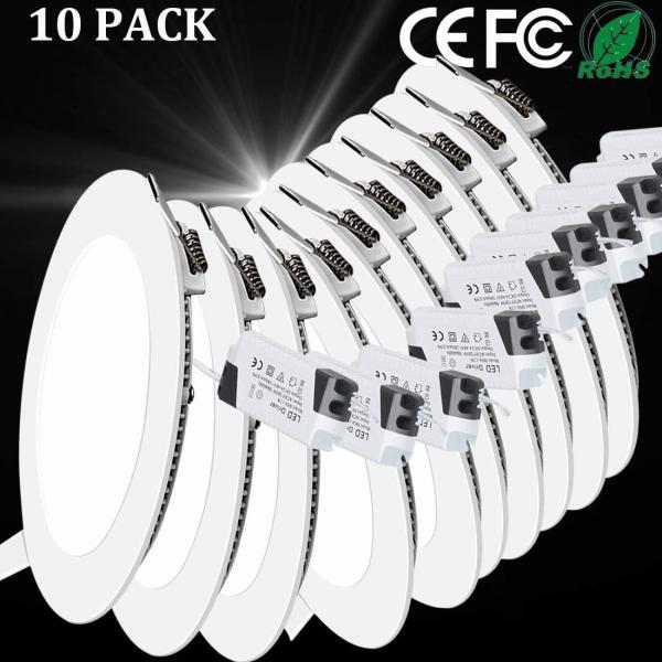 Bộ 10 đèn Led downlight âm trần thạch cao siêu mỏng 4W
