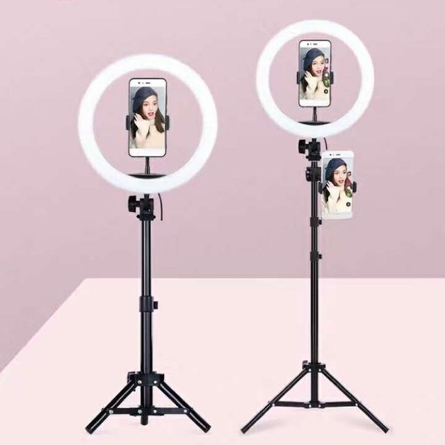 Đèn Led Hỗ Trợ Livestream, Chụp Hình Sản Phẩm, Makeup, Studio ZD666 ĐÈN LED RING MINI THIẾT BỊ QUAY PHIM, LIVESTREAM, CHỤP ẢNH - Đèn Livestream Và Trang điểm 26CM Đang Ưu Đãi