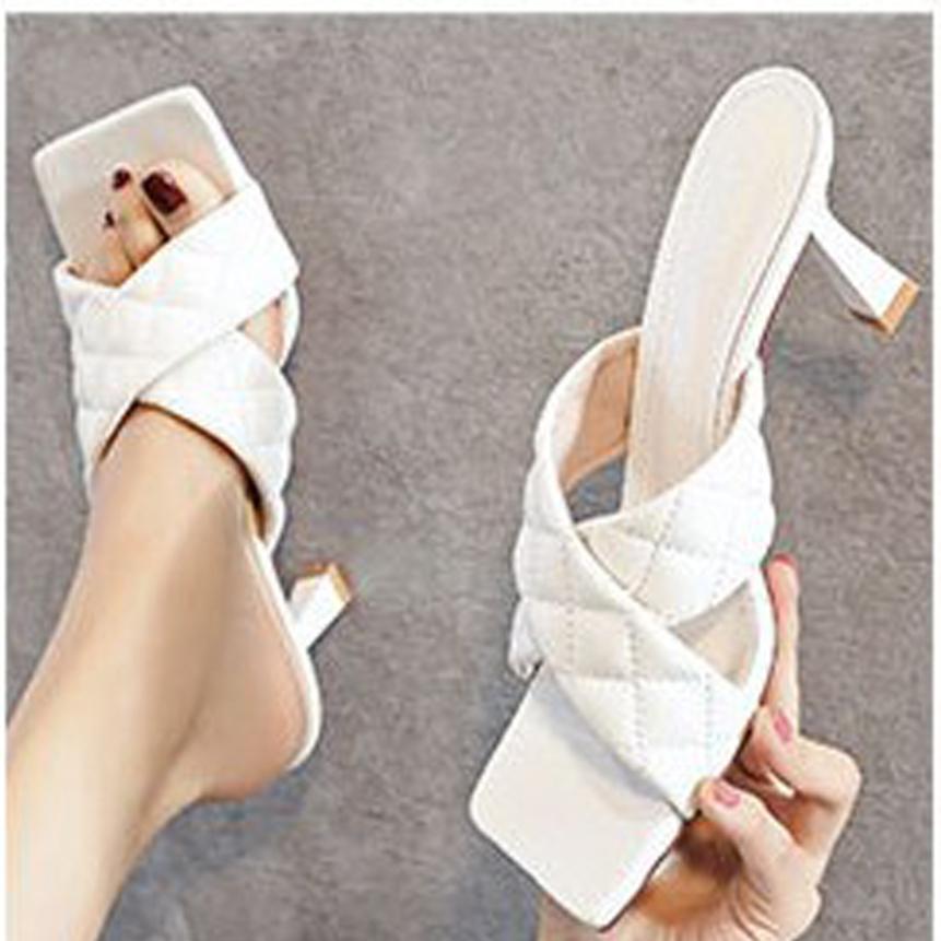 Sandal cao gót 5 cm quai chữ X phong cách Hàn Quốc giá rẻ