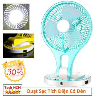 Sale Mùa Hè Hạ Nhiệt Mùa Hè Quạt Sạc Tích Điện MINI FAN JR-5580 -DC2190 - Quạt Sạc Mini Đèn Led 2 chế độ sáng thumbnail