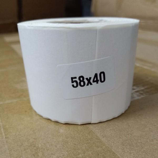 Bảng giá Tem nhiệt in mã vạch, cân điện tử siêu thị, trà sữa, in nhãn 1 tem/hàng khổ 58x40mm Phong Vũ