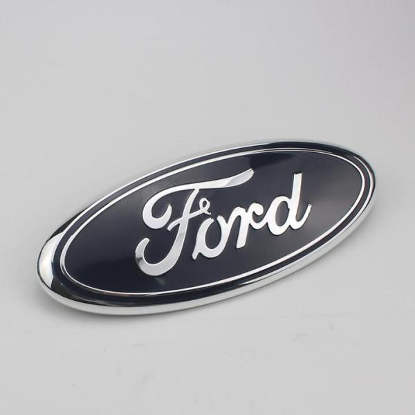 1 chiếc logo biểu tượng truớc xe ô tô, xe hơi FORD Kích thước 23cm*9cm (Màu đen)