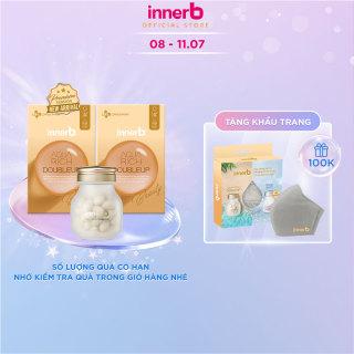 Bộ đôi thực phẩm bảo vệ sức khỏe INNERB AQUA RICH DOUBLEUP (giúp giữ ẩm da sáng mịn từ Axit Hyaluronic) lọ 56 viên thumbnail