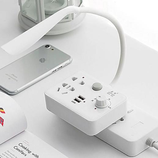 Ổ cắm điện thông minh tích hợp 2 cổng sạc USB 2.1A và đèn LED siêu sáng