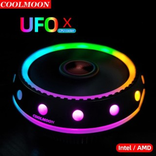 QUẠT TẢN NHIỆT CPU COOLMOON UFOX LED RGB thumbnail