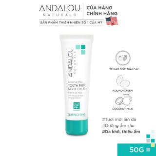Kem dưỡng ẩm ban đêm Andalou Naturals Quenching Coconut Milk Youth Firm Night Cream 50g thumbnail