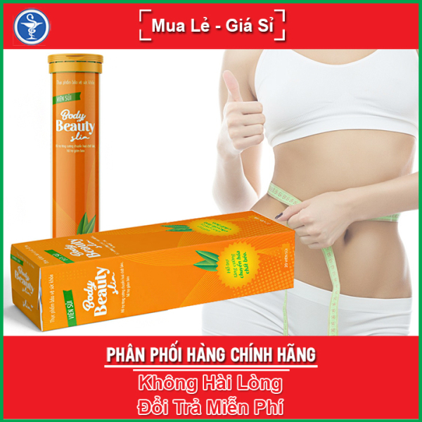 Viên sủi giảm cân Body Beauty Slim - Hỗ trợ tăng cường chuyển hóa chất béo, giảm mỡ bụng (Tuýp 20 viên) cao cấp