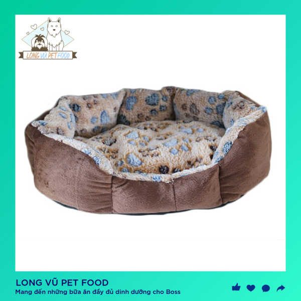 Đệm ngủ cho chó mèo mềm mại 37x32cm - Đệm ngủ cho thú cưng - Nệm cho chó mèo - Long Vũ Pet Food