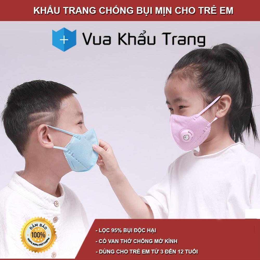 Khẩu trang trẻ em chống bụi mịn Xiaomi Airpop kid cho trẻ từ 3 đến 12 tuổi cao cấp