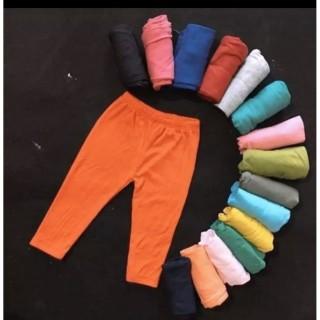 Quần legging cho bé, quần trơn màu, chất cực đẹp cho bé từ 1đến 6 tuổi - Màu giao ngẫu nhiên - BUBY thumbnail