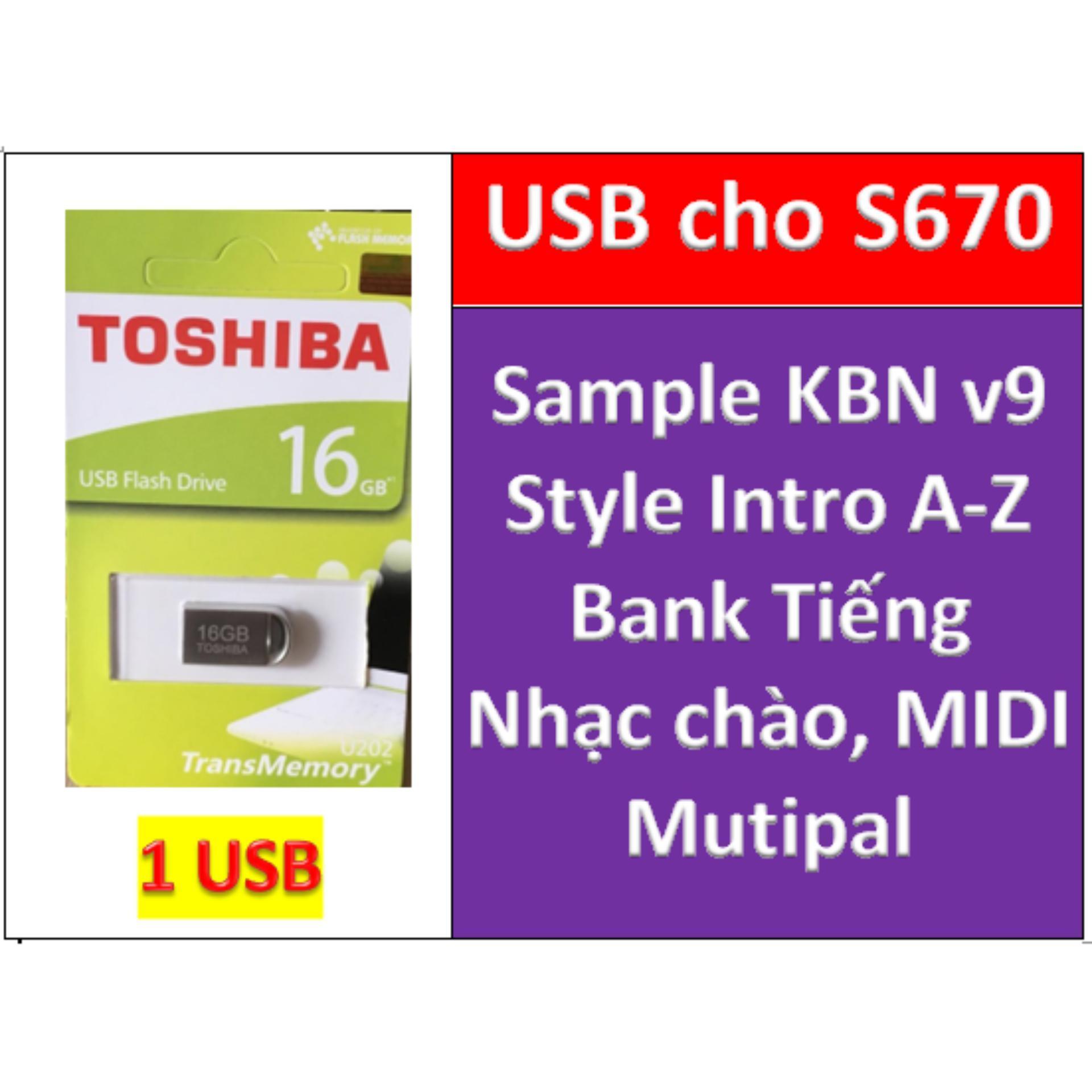 USB mini Sample KBN v9 cho đàn organ yamaha PSR-S670, Style, nhạc chào, midi + Full dữ liệu làm show