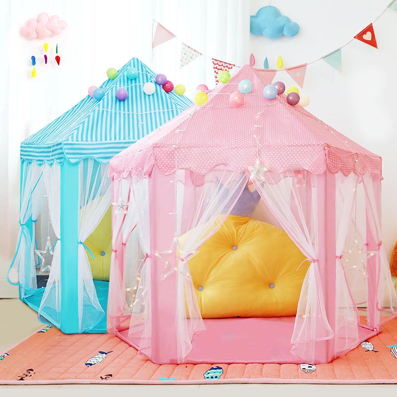 Lều Cho Bé Lều Công Chúa Hình Lục Giác Cho Bé Kiểu Dáng Hàn Quốc - Lều Cắm Trại Cho Bé Vui Chơi Ưu Đãi Bất Ngờ