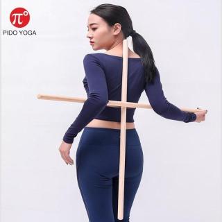 Gậy thể dục Yoga GYM (dưỡng sinh) bằng gỗ Mềm 90cm PIDO thumbnail