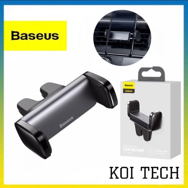 Giá đỡ điện thoại trên oto Baseus Steel Cannon - kẹp điện thoại cửa gió ô tô xe hơi chắn chắn - KOI TECH