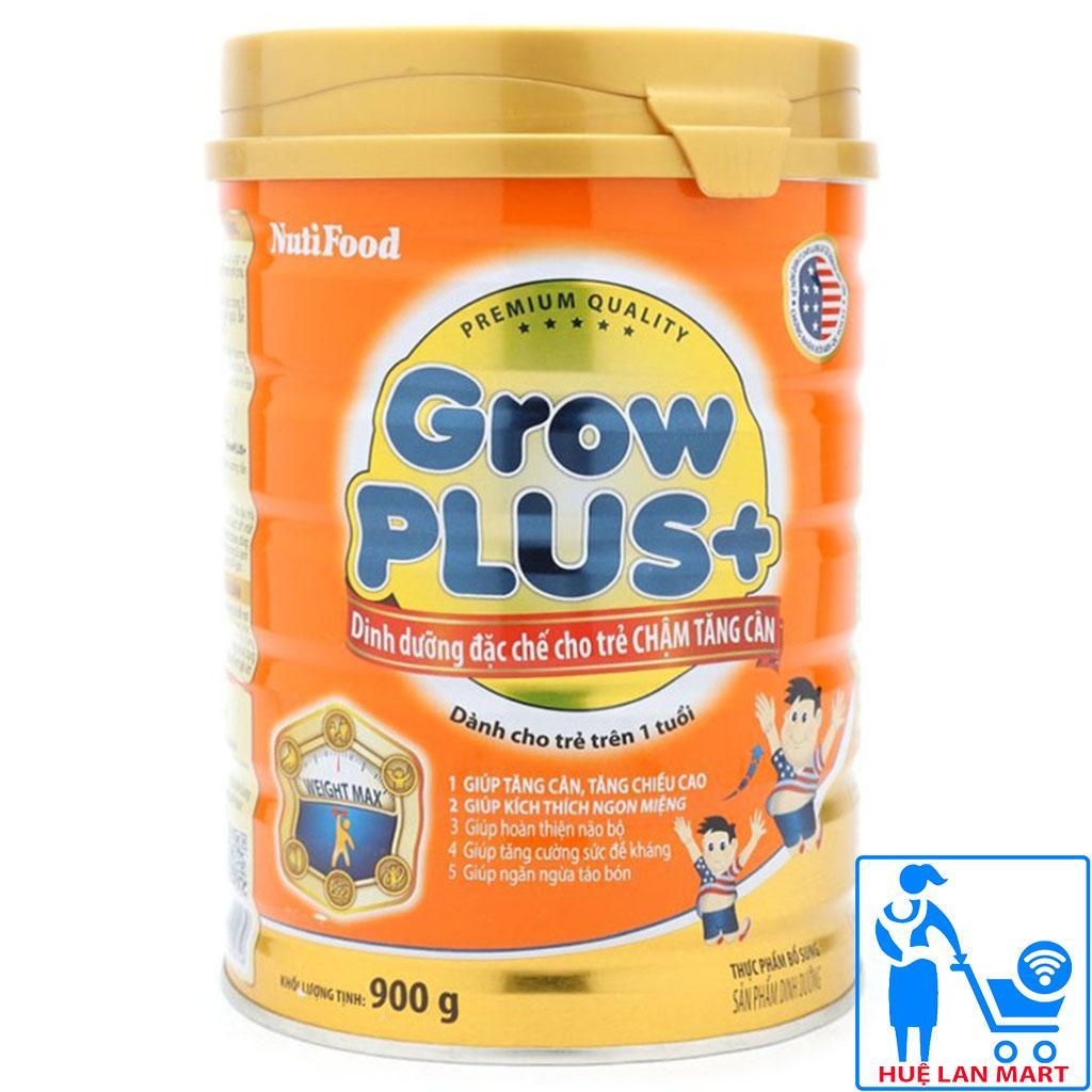 Sữa Bột Nutifood Grow Plus+ Cam Hộp 900g (Dinh dưỡng đặc chế cho trẻ chậm tăng cân từ 1~10 tuổi)