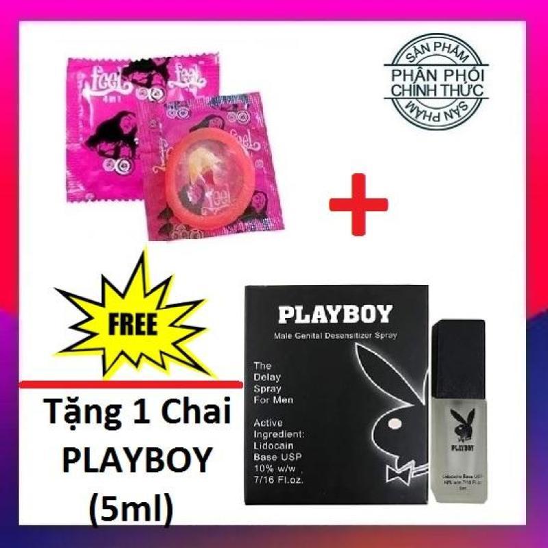 [Mua 1 Tặng 1] Bao cao su Feel 4in1 Chính Hãng (1Bcs) + Tặng 1 Chai xịt Playboy Chống xuất tinh sớm - Hãng phân phối chính thức giá rẻ