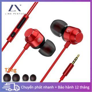 Tai nghe in-ear có dây Nút tai 3,5mm có micrô hỗ trợ chức năng cuộc gọi giảm tiếng ồn thumbnail