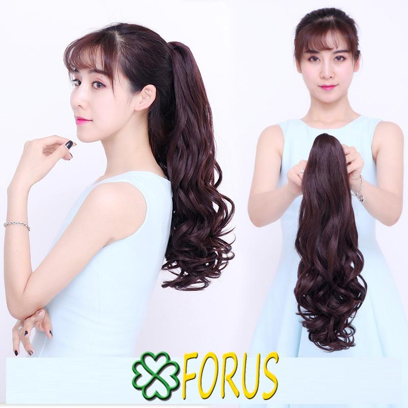 Tóc ngoạm xoăn dài 55cm N158, màu [nâu đỏ 2/33] giá rẻ