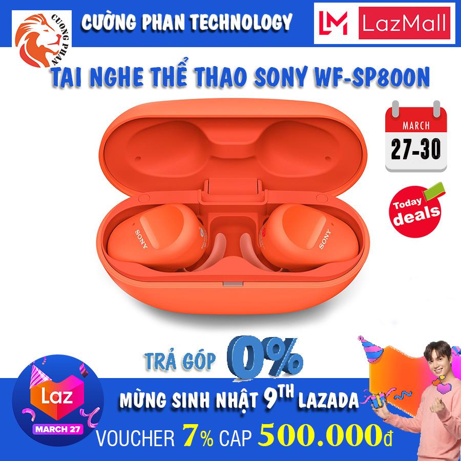 [Voucher 7% Cap 500k][Trả Góp 0%] Tai nghe thể thao chống ồn True Wireless Sony WF-SP800N, bảo hành 12 tháng tại tất cả TTBH Sony toàn quốc