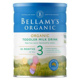 Sữa Bellamy s Organic công thức số 3 (bé từ 12-36 tháng) - 900gram thumbnail