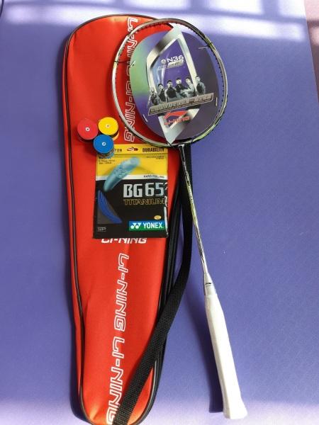 Vợt cầu lông Lining N80 Khung Carbon (Tặng 1 lần căng dây và quấn cán vợt)