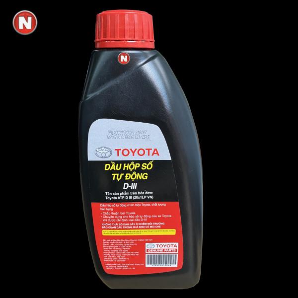 Nhớt hộp số tự động chính hãng Toyota ATF D-III - 1 Lít - Mã phụ tùng: 0888680806