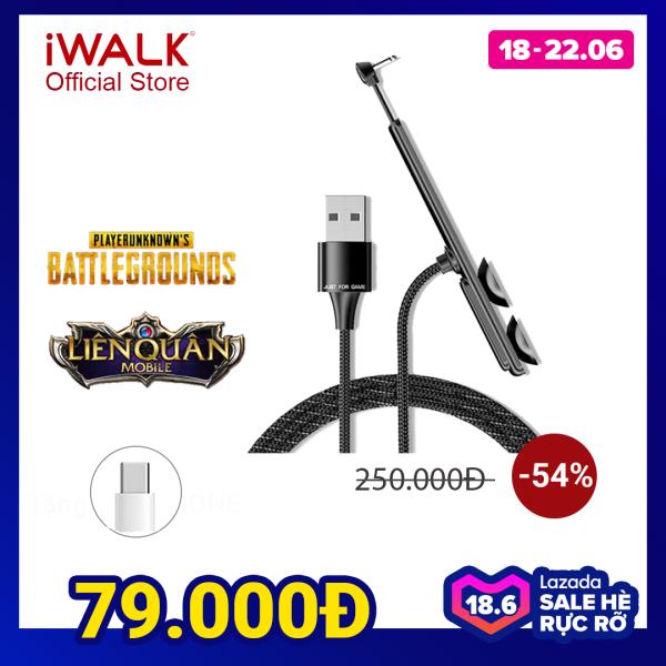 Giá [ HÀNG CHÍNH HÃNG ] Cáp sạc Type-C chơi game, cáp sạc gaming iWALK CSC003 dài 1,2m tốc độ 2A