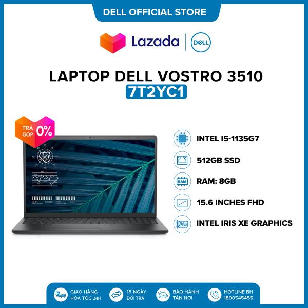 Bảng giá Laptop Dell Vostro 3510 15.6 inches FHD (Intel / i5-1135G7 / 8GB / 512GB SSD / OfficeHS19 / Win 10 Home SL) l Black l 7T2YC1 Phong Vũ