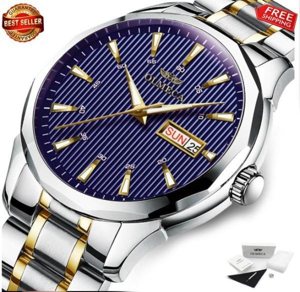 Đồng hồ Olmeca dây thép không gỉ siêu đẹp 0853 (fullbox)