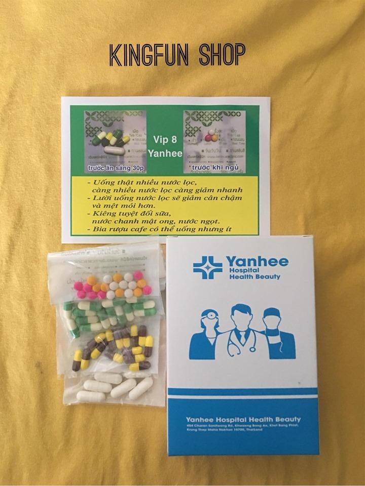 (SIÊU SALE 12.12) Giảm cân vip 8 Yanhee giảm mạnh ( liệu trình 2 tuần) nhập khẩu