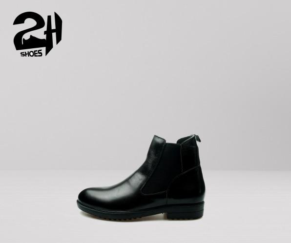 giày nam boot nam cổ cao, chelsea boot da bò cao cấp SHOES 2H – 54 giá rẻ