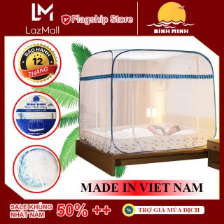 [Flash Sale] Mùng Chụp Tự Bung Chống Muỗi Đỉnh Rộng Hàng Cao Cấp Có Chân Viền Bảo Vệ Bé Yêu Hàng Việt Nam - Bình Minh thumbnail