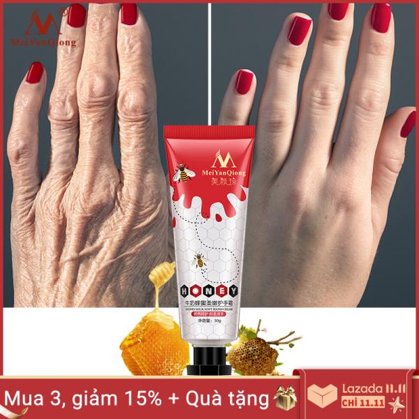 MeiYanQiong Mật ong sữa mềm Kem dưỡng da tay Serum sửa chữa chăm sóc da tay nuôi dưỡng chống nứt nẻ chống lão hóa dưỡng ẩm làm trắng kem cao cấp
