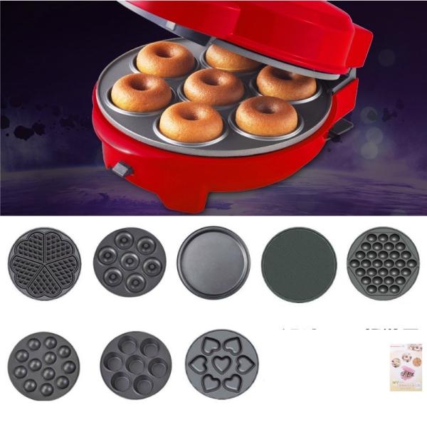 Máy làm bánh đa năng Red Heart - Máy bánh quế Donut - Chảo nướng bánh điện nội trợ