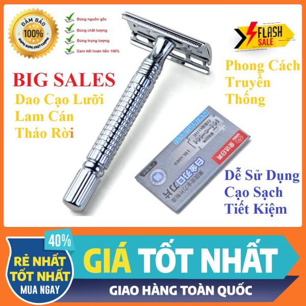 Dao Cạo Râu Lưỡi Lam Phong Cách Truyền Thống - Cán Tháo Rời - Sạch Mịn - Dễ Vệ Sinh - Tiện Lợi [ Hàng Chuẩn Công Ty ] giá rẻ