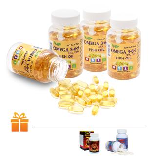 Bộ 4 hộp viên uống dầu cá Omega 3 6 9 Nature Gift ( 100 viên hộp ) TẶNG 1 Hộp Đông Trùng Hạ Thảo Wellness 30 viên & 2 Hộp Shark Cartilage Nature Gift 30 viên thumbnail