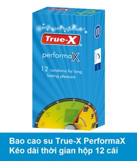 Bao cao su kéo dài thời gian True-X PerformaX Extra time hộp 12 chiếc thumbnail