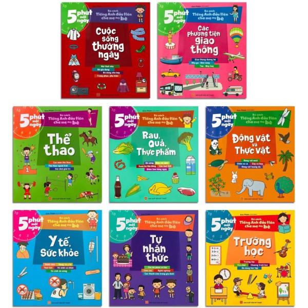 Sách: Combo 5 Phút Mỗi Ngày - Bộ Sách Tiếng Anh Đầu Tiên Cha Mẹ Dạy Bé