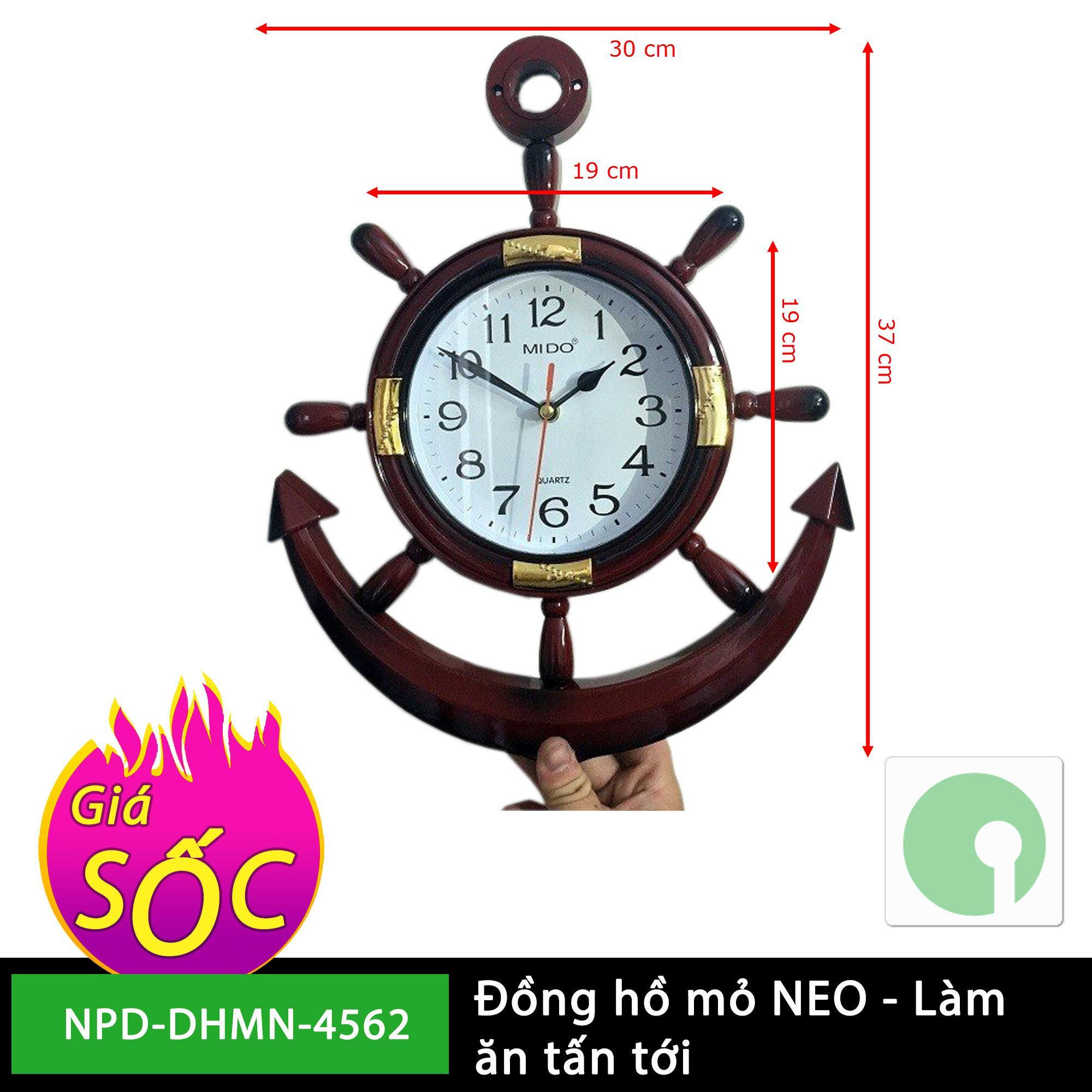 Đồng hồ treo tường mỏ neo giá rẻ - mới 100% - quà tặng ý nghĩa (Màu nâu) - NPD-DHMN-4562 bán chạy