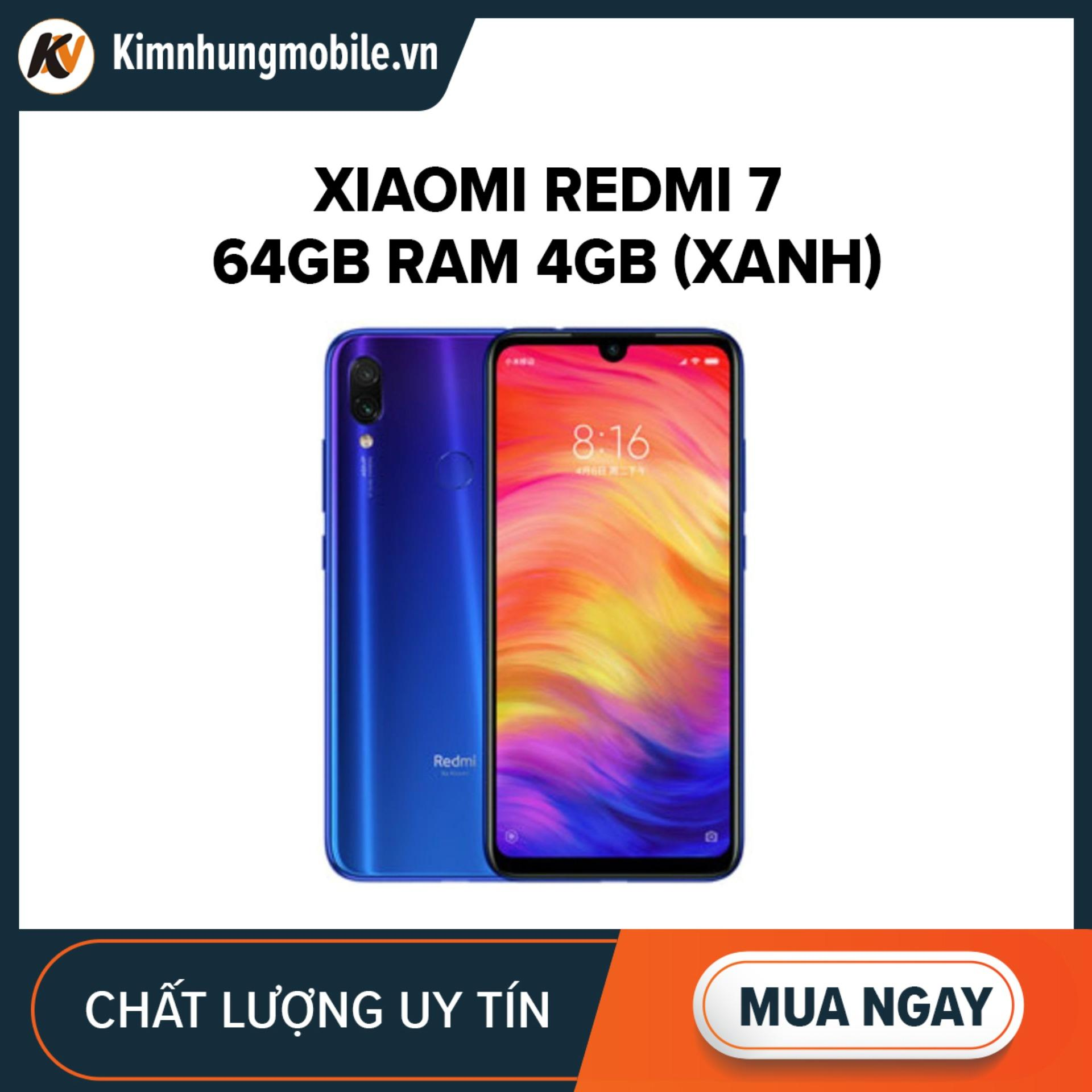 Xiaomi Redmi 7 64GB Ram 4GB KIm Nhung (Xanh) - Hàng nhập khẩu