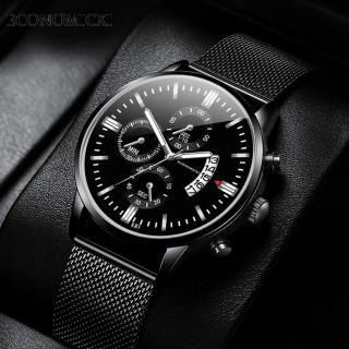 Đồng hồ nam ECONOMICXI dây thép mành đen có lịch ngày ECI-D12 thumbnail