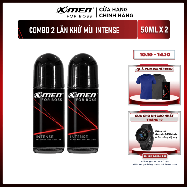 Combo 2 Lăn khử mùi X-men For Boss 50ml - Hương Intense