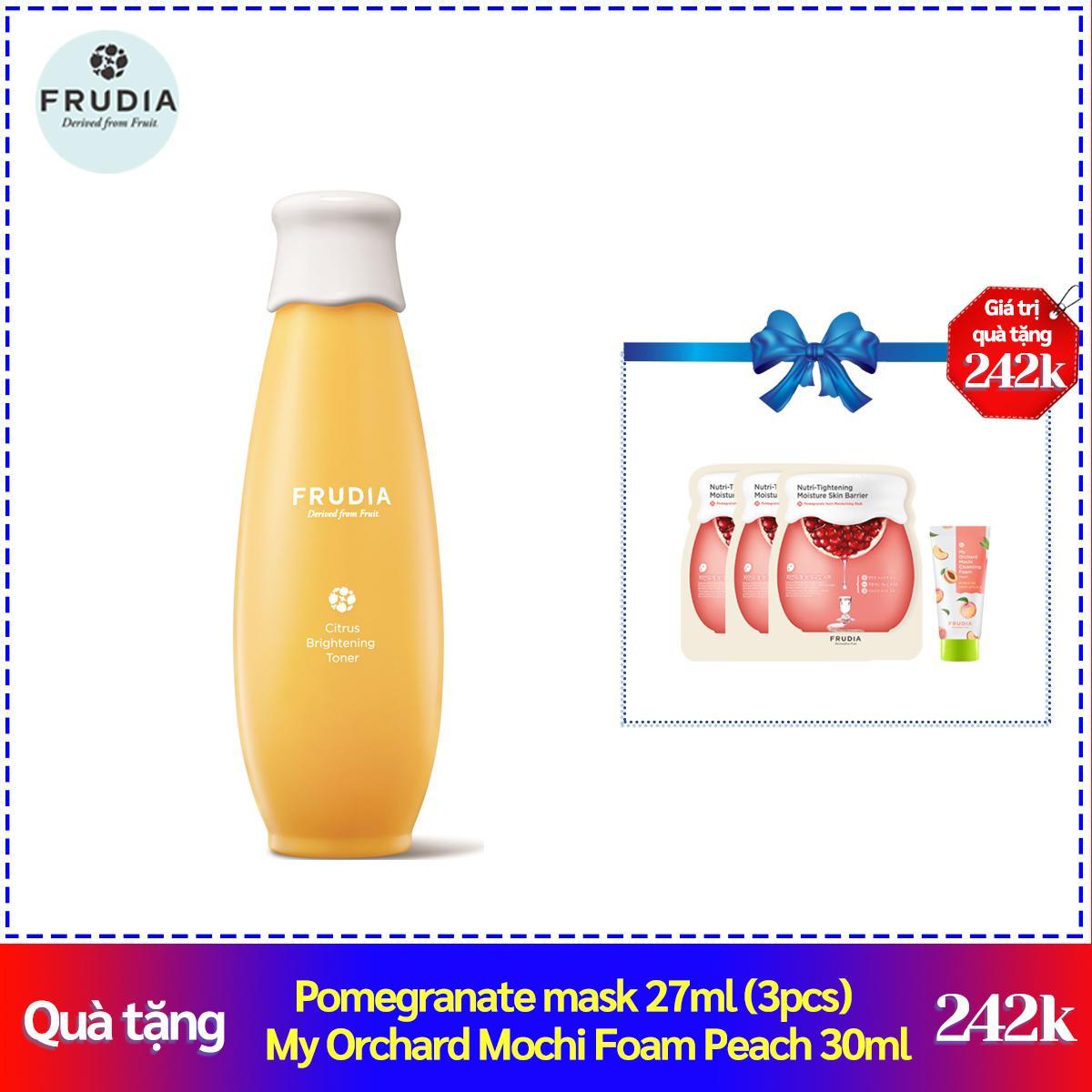 Nước Hoa Hồng Dưỡng Trắng Sáng Chiết Xuất Cam Quýt Frudia Citrus Brightening Toner 195ml cao cấp