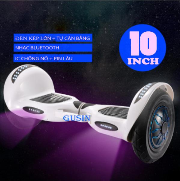 Phân phối Xe Điện Cân Bằng GUSIN 10 Inch Mới Nhất Bluetooth Full Led